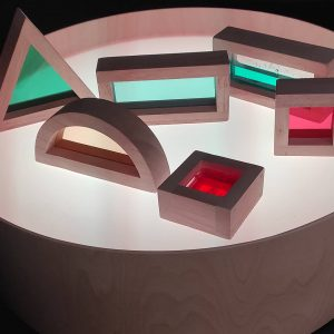 table lumineuse et blocs sensoriels